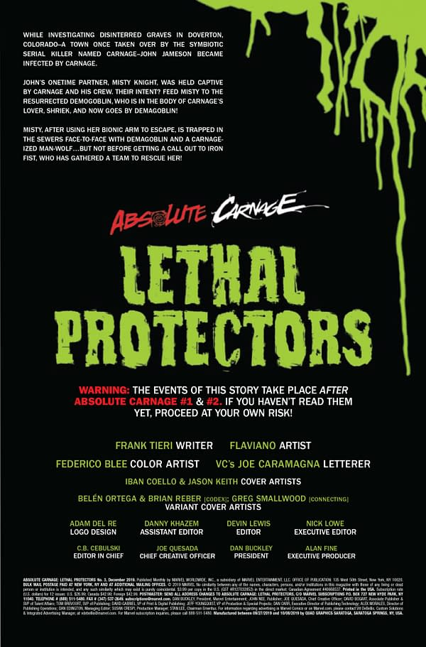 Absolute Carnage: Lethal Protectors #3 [Preview]