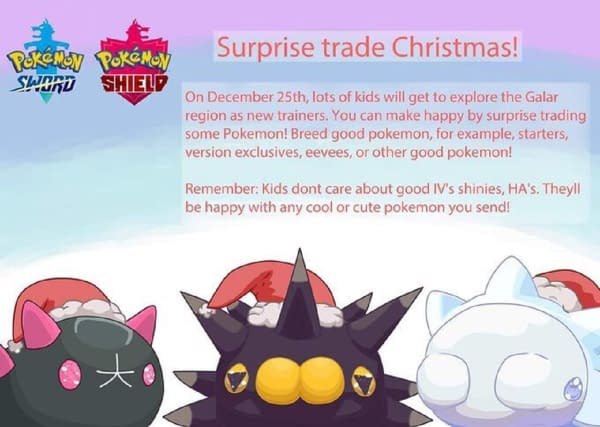 "Pokémon Sword & Shield ""Surprise Trade Christmas"" Devised"