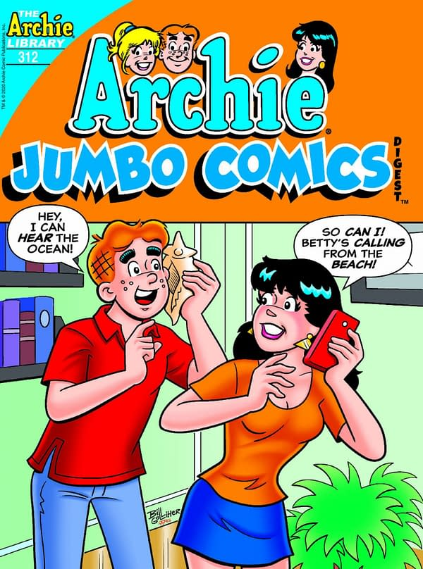 The cover of Archie's Jumbo Comics Digest #312.