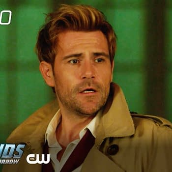 Constantine looks concerned on DC's Legends of Tomorrow, courtesy of The CW.