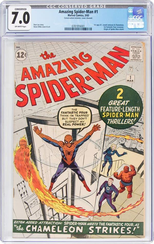 The Amazing Spider-Man #1 CGC Conservation 7.0