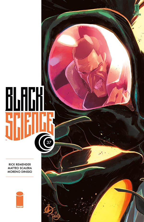 Black Science #37 cover by Matteo Scalera