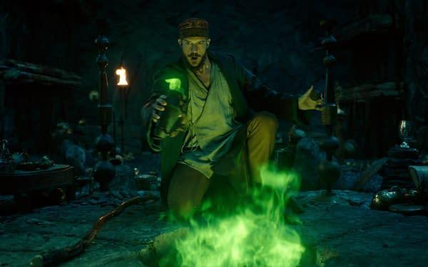 La magie est à portée de main dans Cursed, gracieuseté de Netflix.