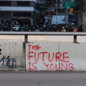 The Future Is Young Batman Dark Knight Message Now Part Of Hong Kong Protests