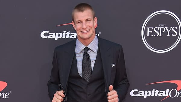 Rob Gronkowski arrives to ESPY Awards 2019 on July 10, 2019 in Hollywood, CA. Editorial credit: DFree / Shutterstock.com