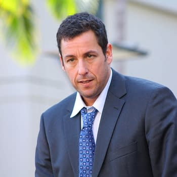 Comedian Adam Sandler on stage at his Walk of Fame ceremony on February 1, 2011 in Hollywood, CA 2011. Editorial credit: RoidRanger / Shutterstock.com