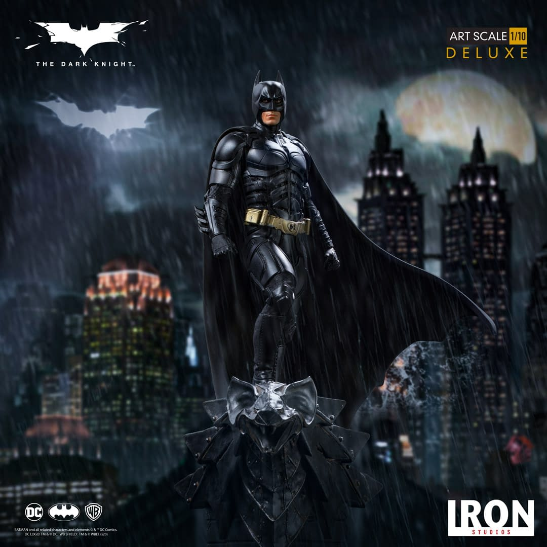 Batman Rises with a New Statue from Iron Studios