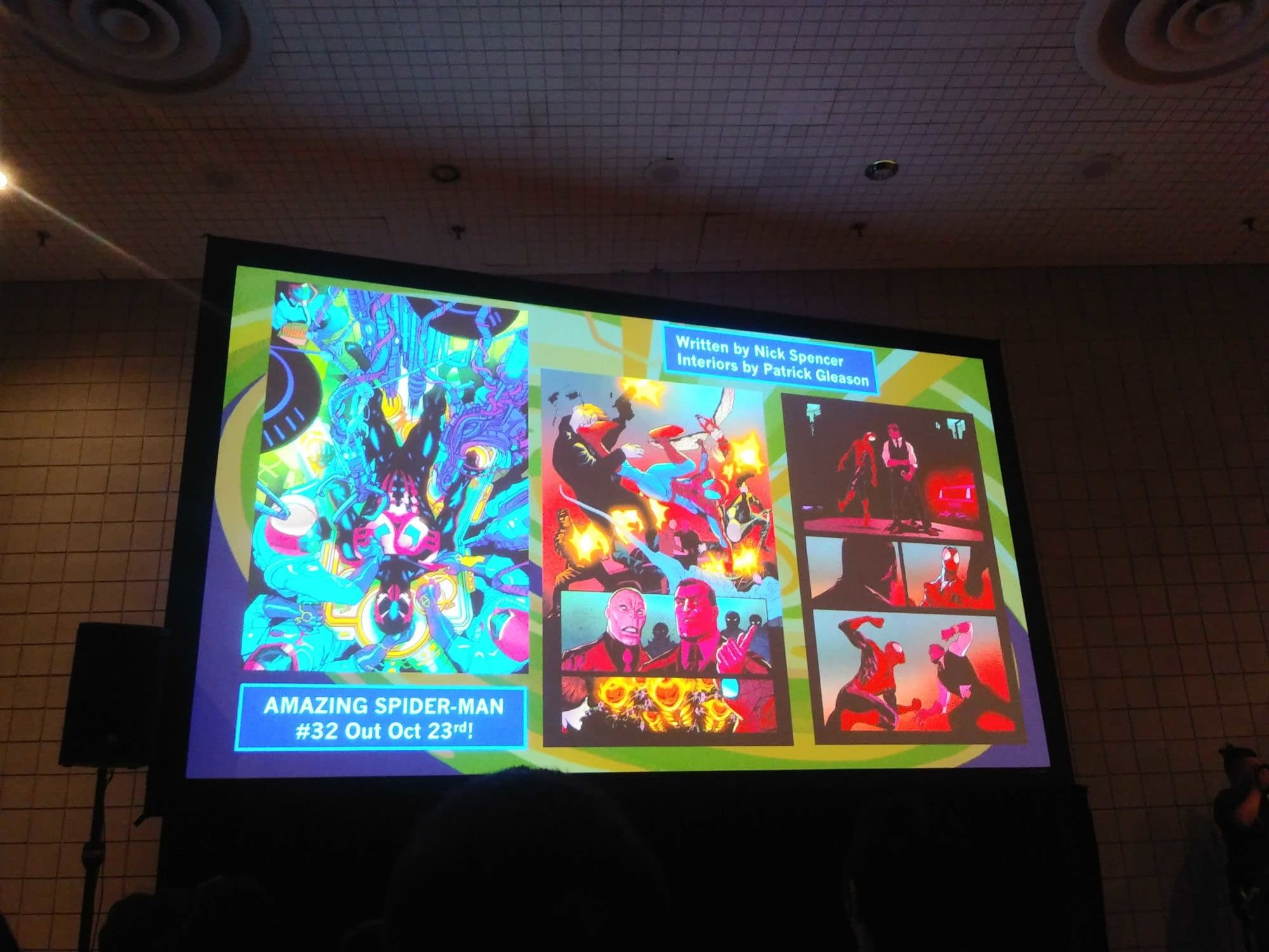 Mary Jane and Mysterio Sitting in a Tree K-I-S-S-I-N-G?! Art from the NYCC Spider-Man Panel