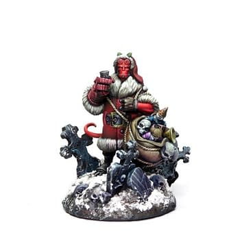Hellboy Board Game Adds a Holiday Hellboy Miniature for Preorder