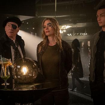 Patrick Stewart, Jeri Ryan and Evan Evagoria in Star Trek: Picard