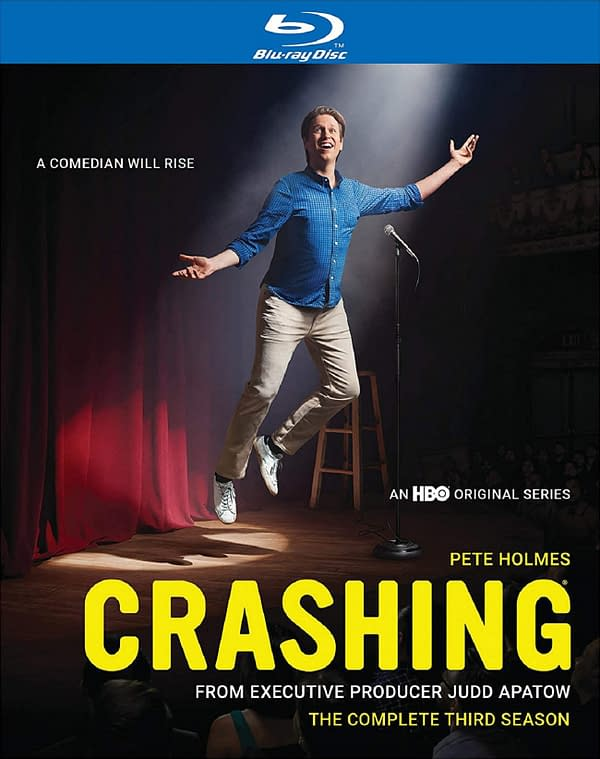The cover of Crashing's Complete Third Season on Blu-ray, courtesy of HBO.