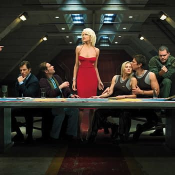 A casting scene for Ronald D. Moore's Battlestar Galactica, courtesy of SYFY.