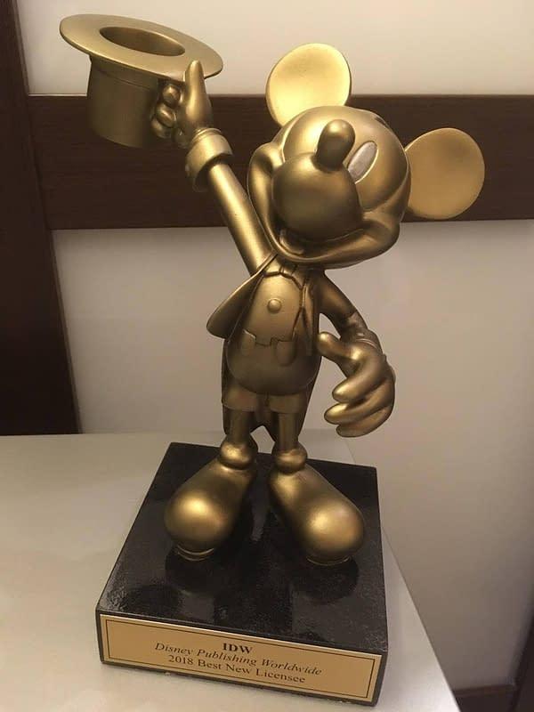 Disney Gives IDW an Award for Comics