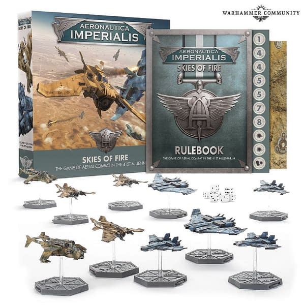 The array for Aeronatica Imperialis Skies of Fire, a new set of models for the game by Games Workshop.