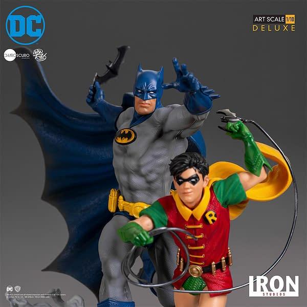 Batman et Robin à l'échelle 1/10 de Iron Studios