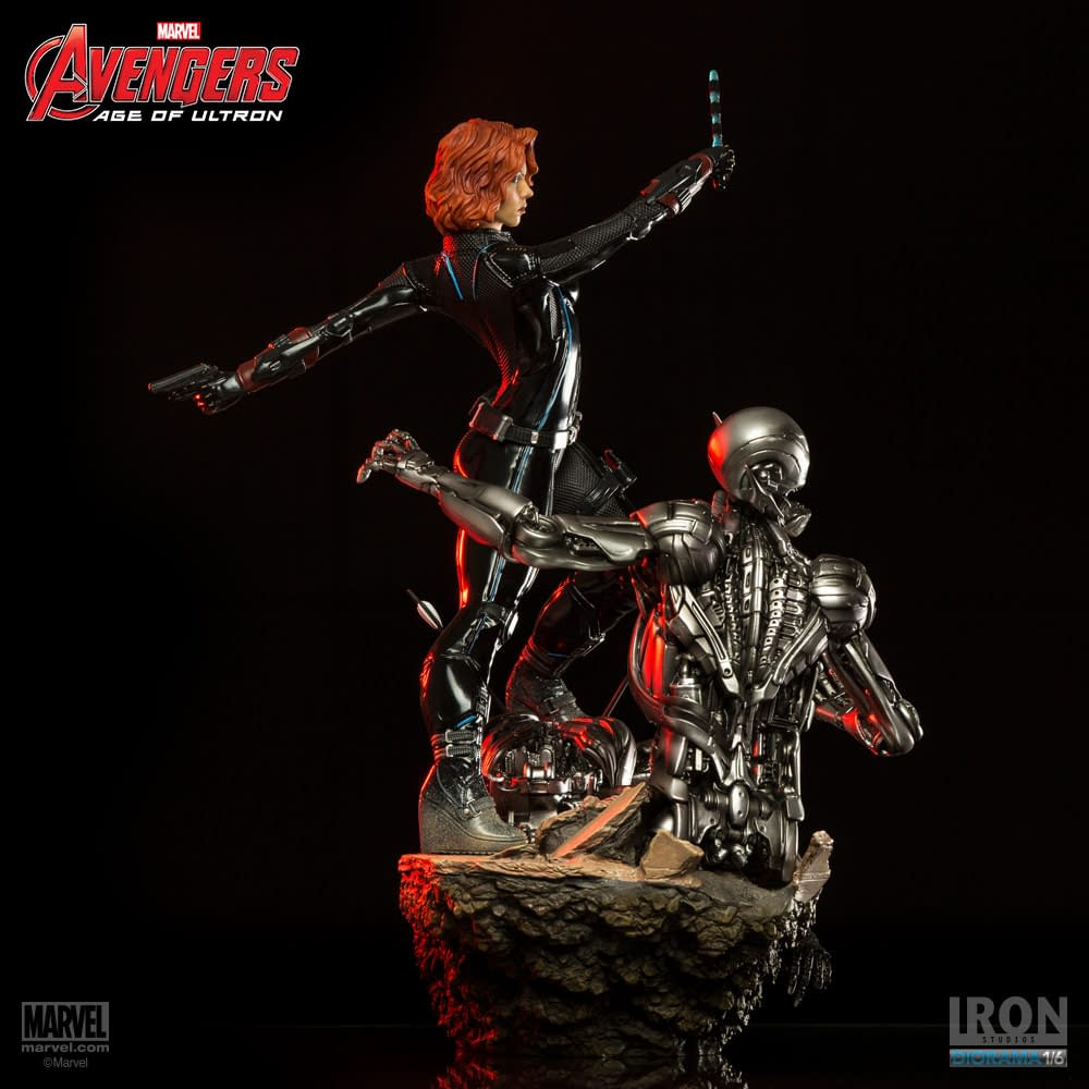 Black Widow Takes on Ultron in New Iron Studios Statue