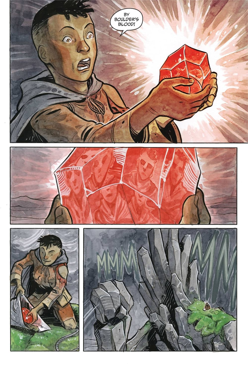 11 Pages from Kel McDonald and Tyler Crook's ComiXology Original Series Stone King, Debuting Tomorrow