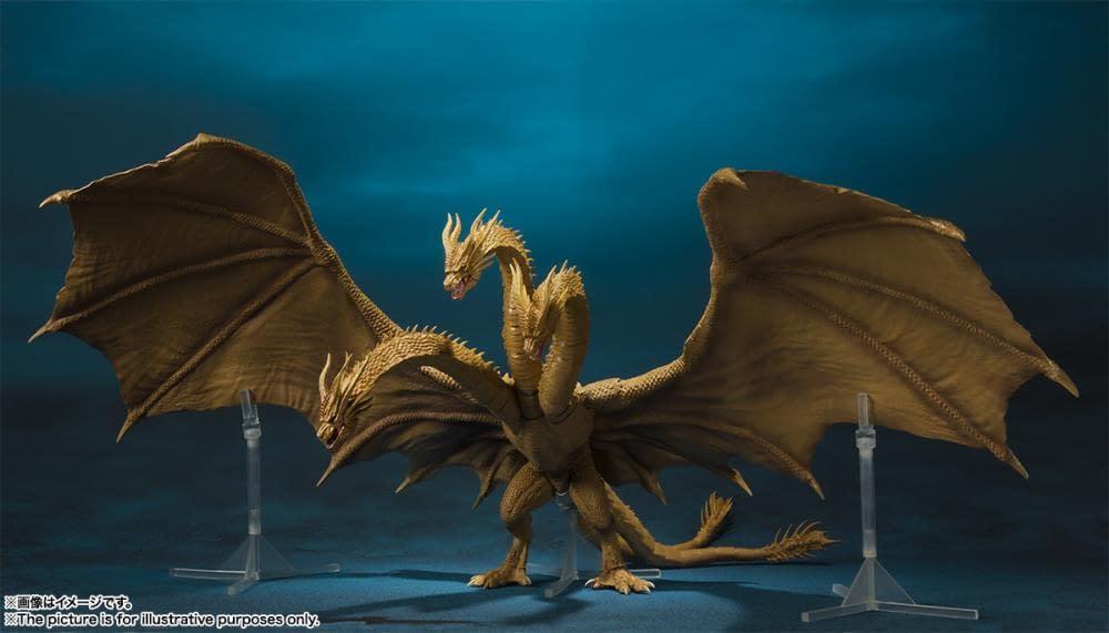 SH MonsterArts Godzilla King Ghidorah 3