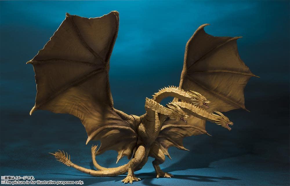 SH MonsterArts Godzilla King Ghidorah 2