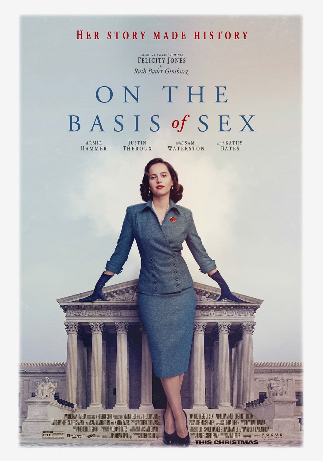First Trailer and Poster for Ruth Bader Ginsburg Biopic 'On the Basis of Sex'