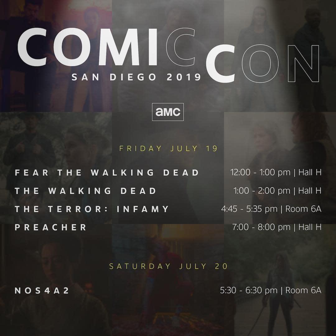 "AMC: ""The Walking Dead,"" ""Preacher,"" ""NOS4A2"" and More SDCC-Bound"