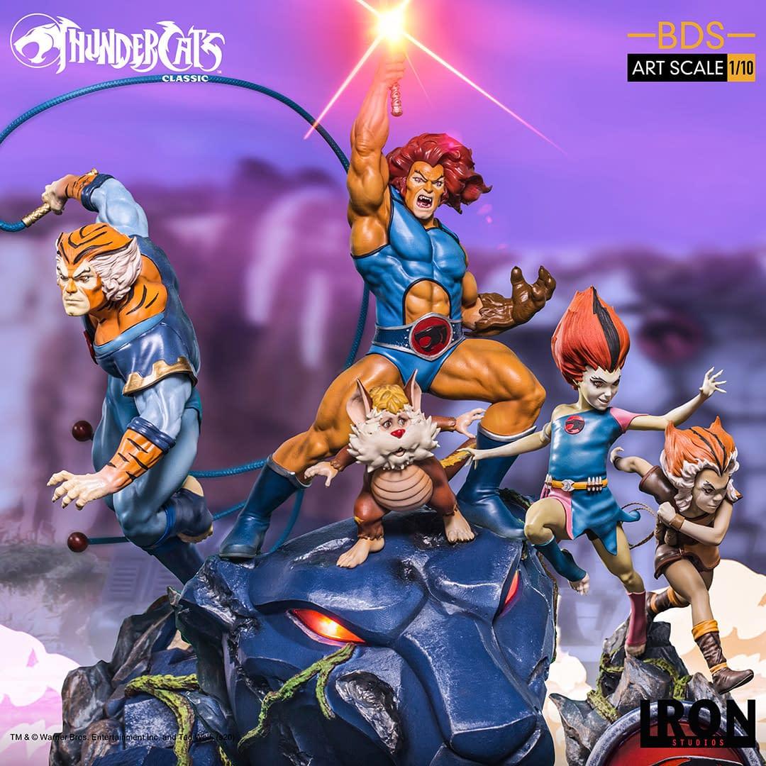 Thundercats Tygra Cracks His Whip With Iron Studios