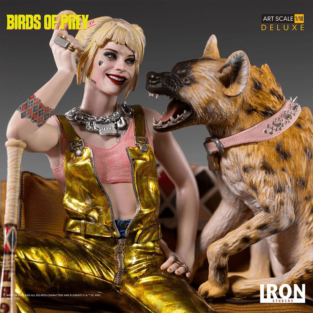 Harley Quinn Has A New Pet In Her New Iron Studios Statue
