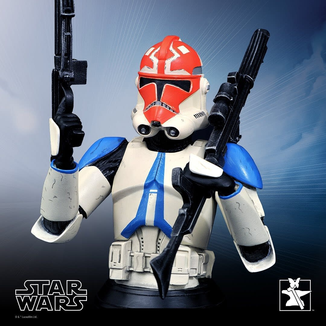 Star Wars 322nd Battalion Ahsoka Tano Clone Trooper Bust Statue, photo courtesy of Gentle Giant Ltd.