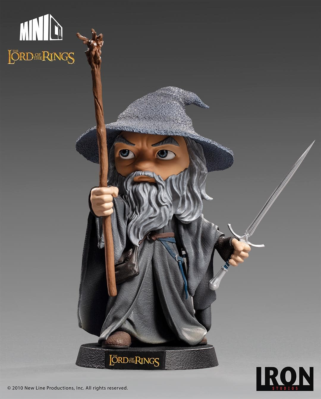Iron Studios Lord of the Rings Minico Statue Frodo Baggins with backgroud, photo from Iron Studios Gandalf the Grey