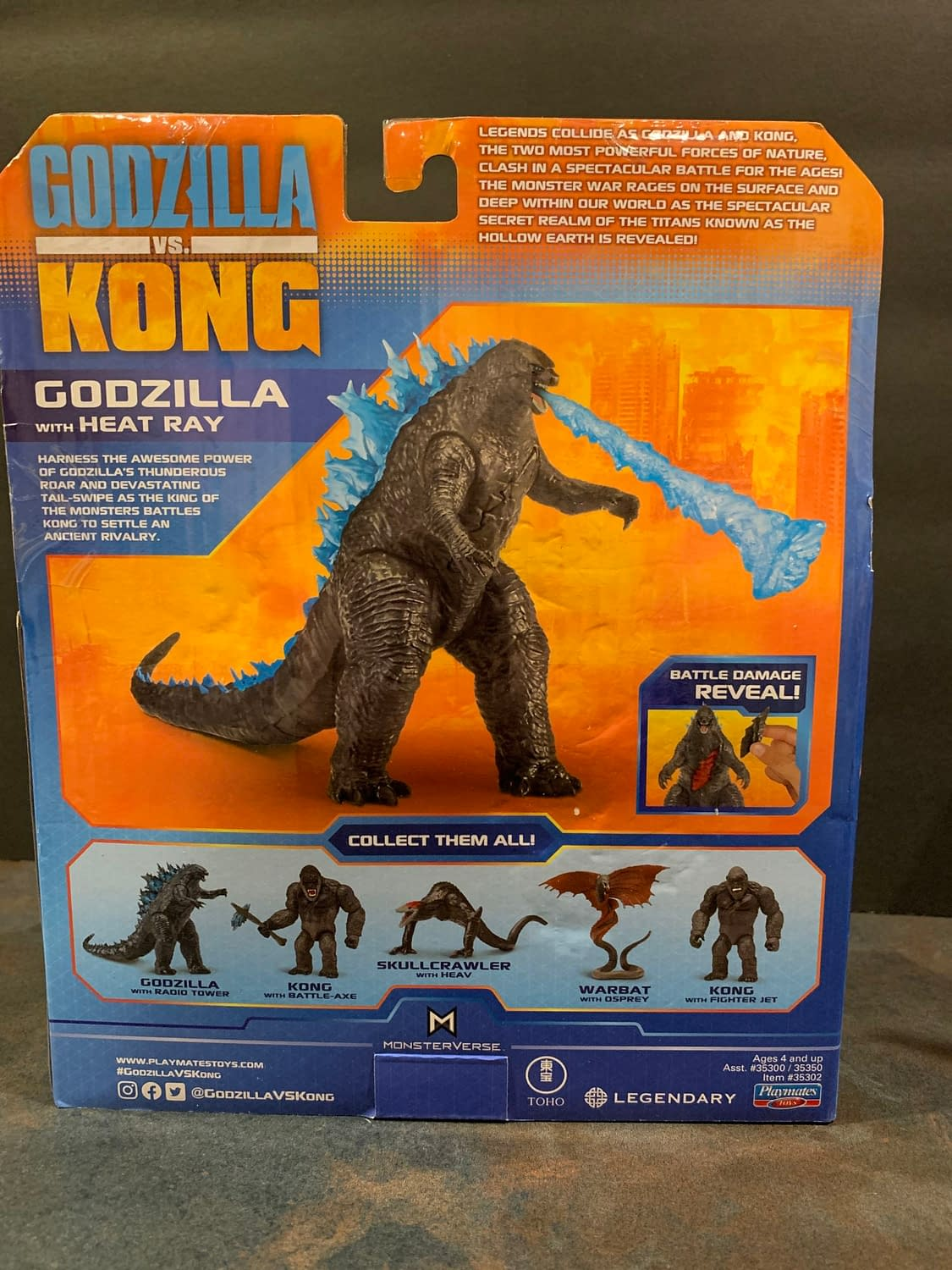 Godzilla Vs Kong: Let's Look At The Playmates Battle Damaged Figures