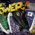 Batman Catwoman Joker and Riddler on Converse Customizable Chucks