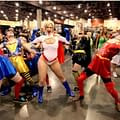 When John Layman Photobombed Power Girl At Phoenix Comicon