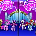 Meanwhile Back At The Stable Of Justice&#8230 Comicons Share My Little Pony Exclusive Interlocking Covers