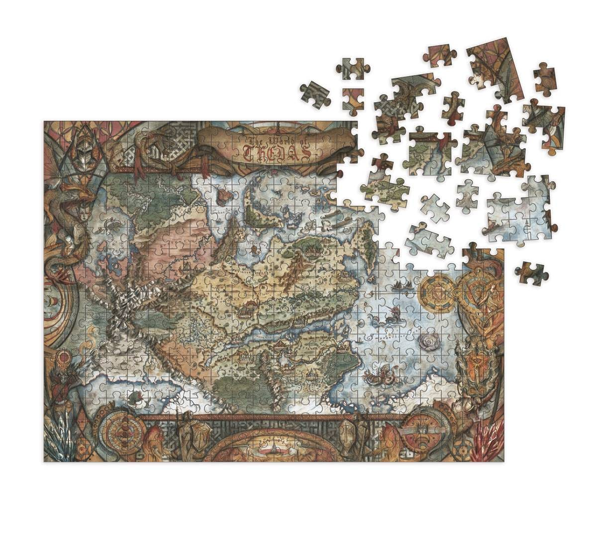 DRAGON AGE WORLD OF THEDAS MAP PUZZLE
