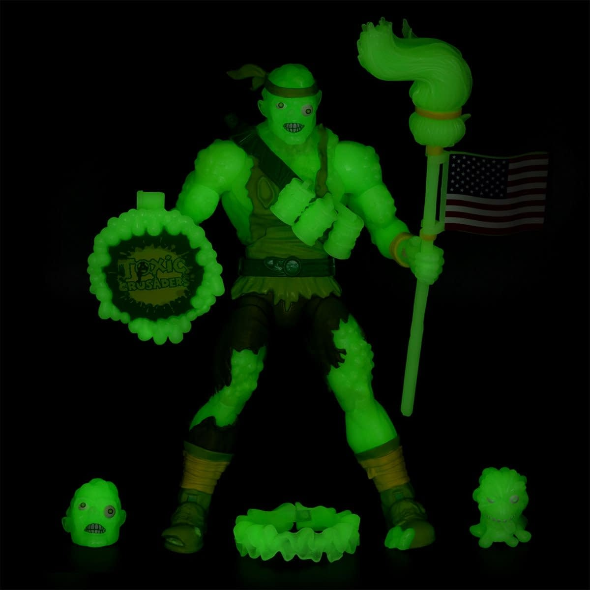 Toxic Crusaders Toxie GITD EE Exclusive from Super7