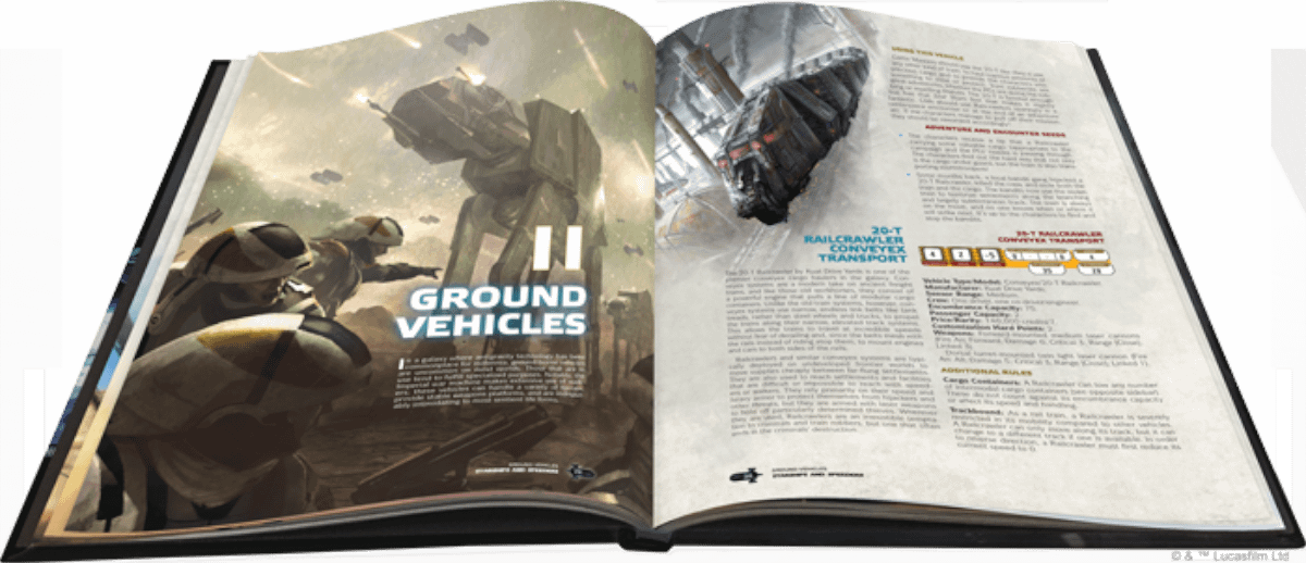 """""""Starships and Speeders"""" Coming Soon to Star Wars RPG from Fantasy Flight"""