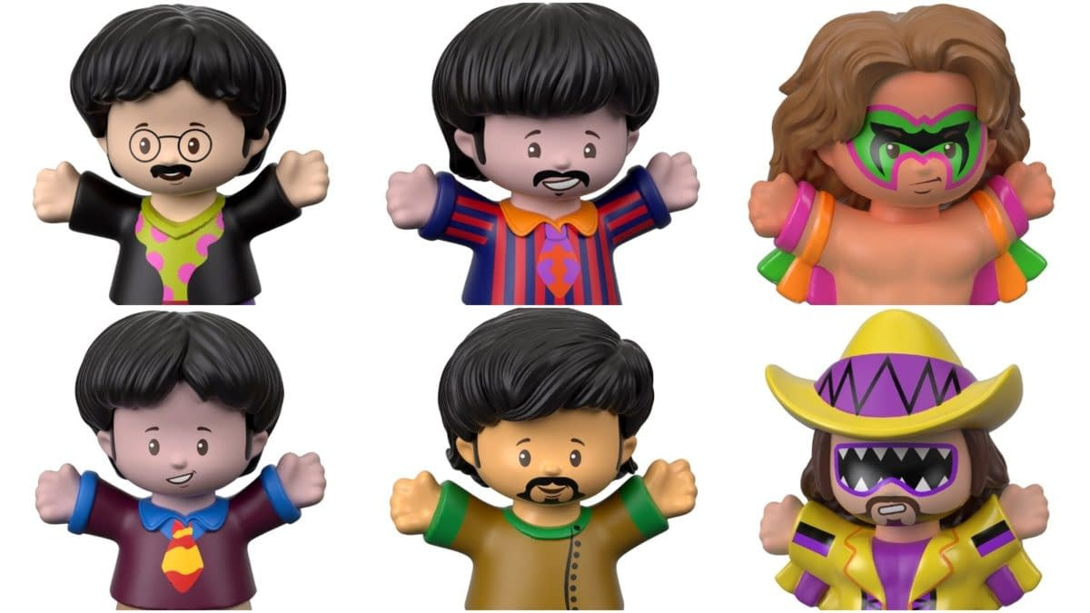 """Ooh Yeah! Mattel's Fisher-Price """"Little People"""" Line Adds WWE, The Beatles! Dig it!"""
