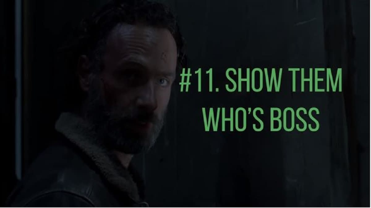 """The Walking Dead"": Rick's 13 Steps to Better, Brighter Walker Apocalypse [VIDEO]"