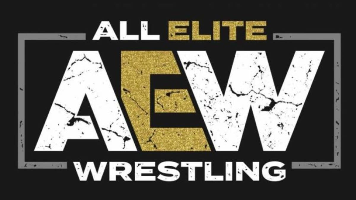 The official logo for AEW or All Elite Wrestling.