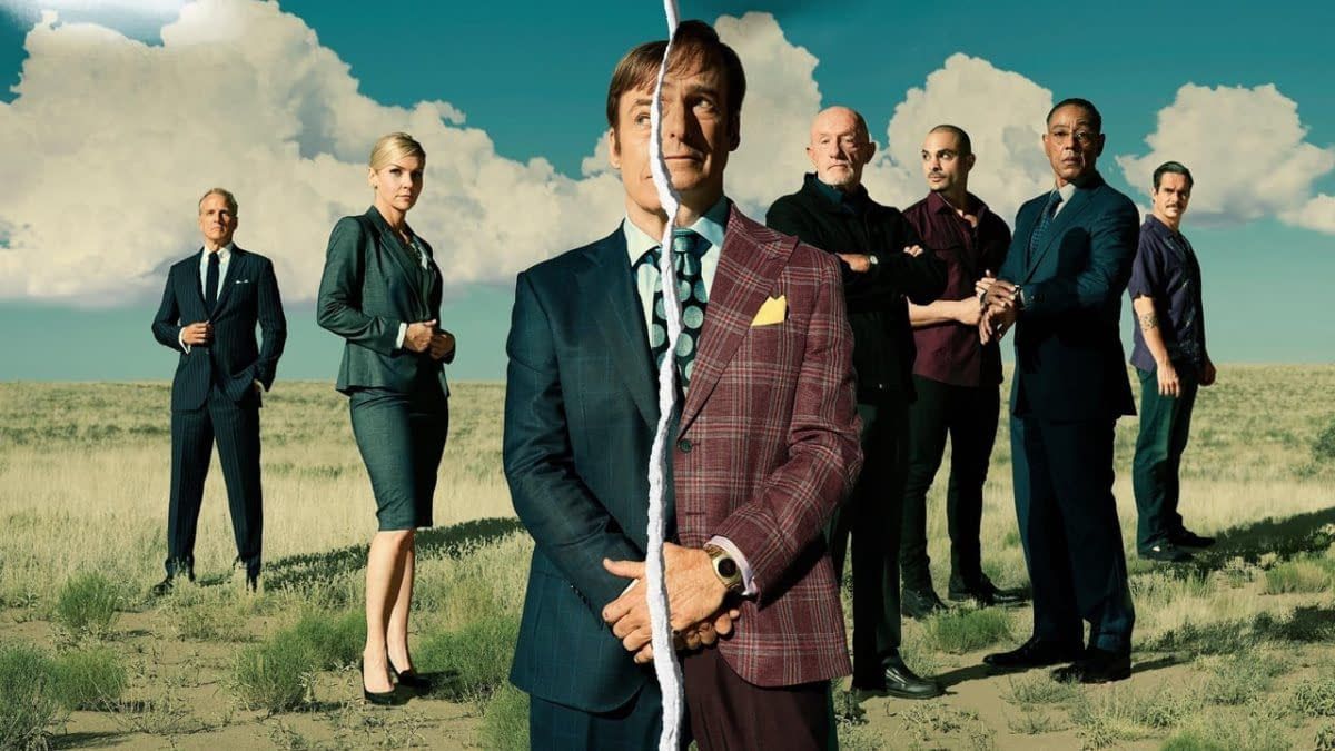 Jimmy is torn between staying Jimmy and giving in to being Saul Goodman in Better Call Saul, courtesy of AMC Studios.