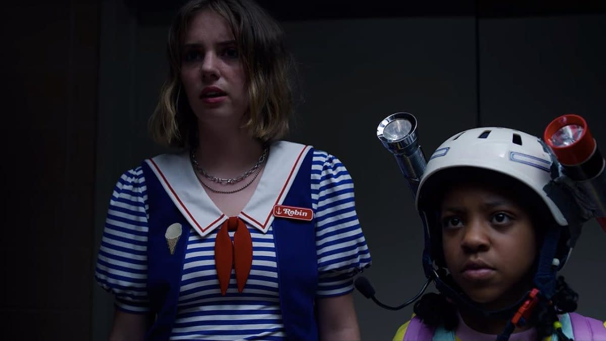 Maya Hawke and Priah Ferguson in Stranger Things 3 (Image: Netflix)