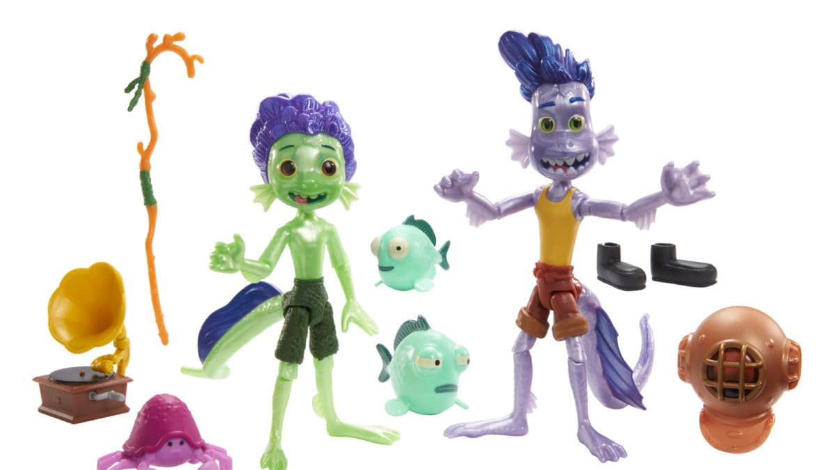 Mattel Reveals First Look at Disney and Pixar Luca Action Figures