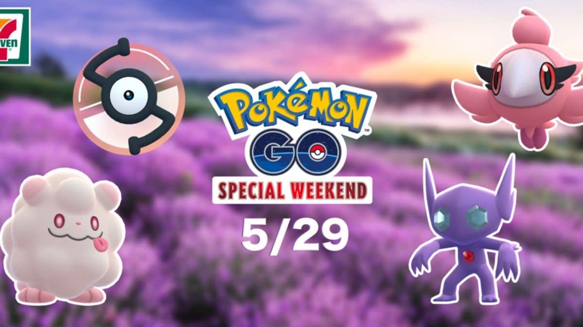 Deino, Unown, & Eevee Featured in Pokémon GO Verizon Event