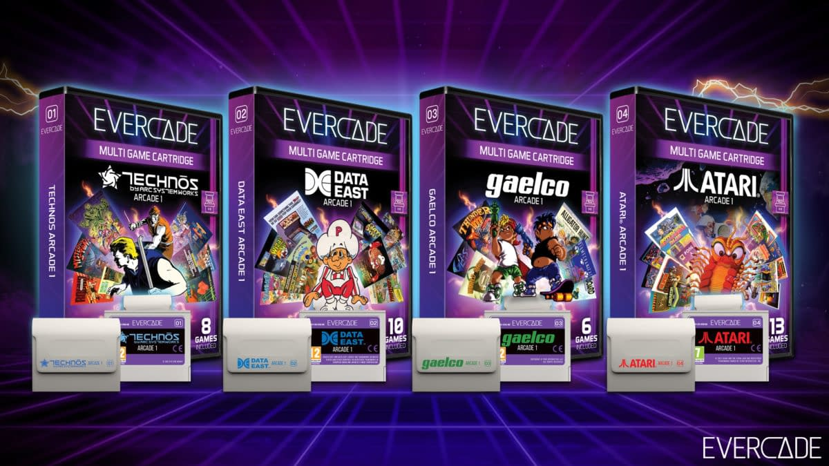 Evercade Reveals Arcade Collections For Handheld & VS Systems