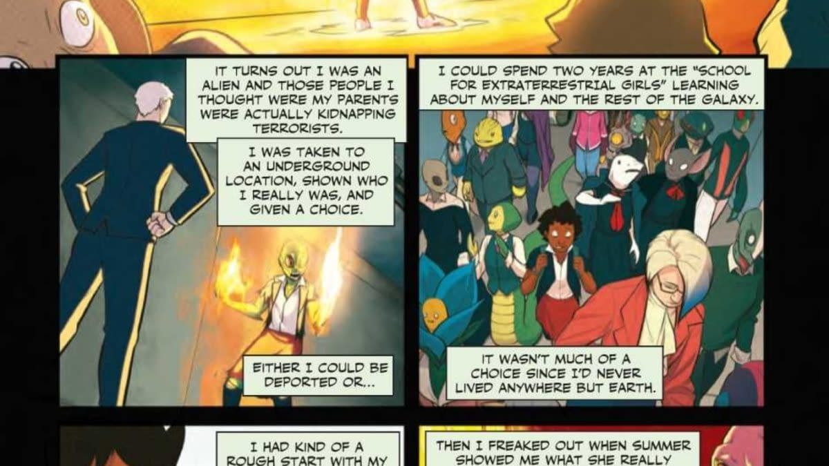 Preview Of School For Extraterrestrial Girls For Free Comic Book Day