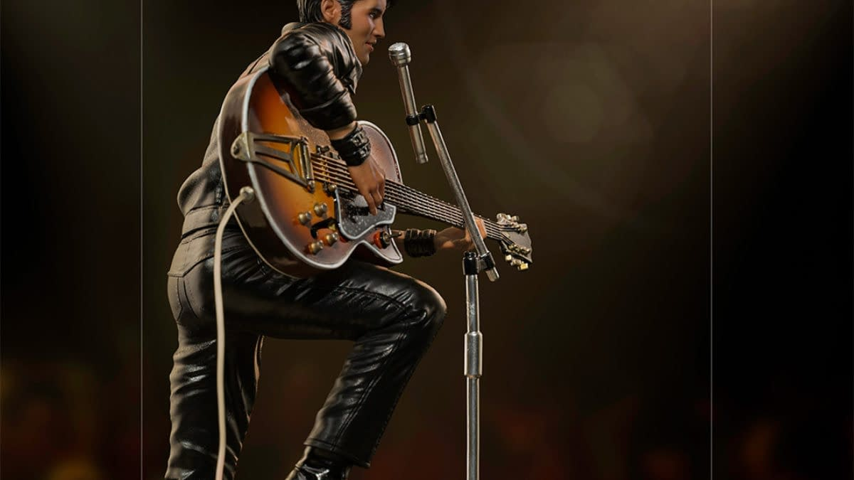Elvis Presley Receives 68' Comeback Special Statue From Iron Studios