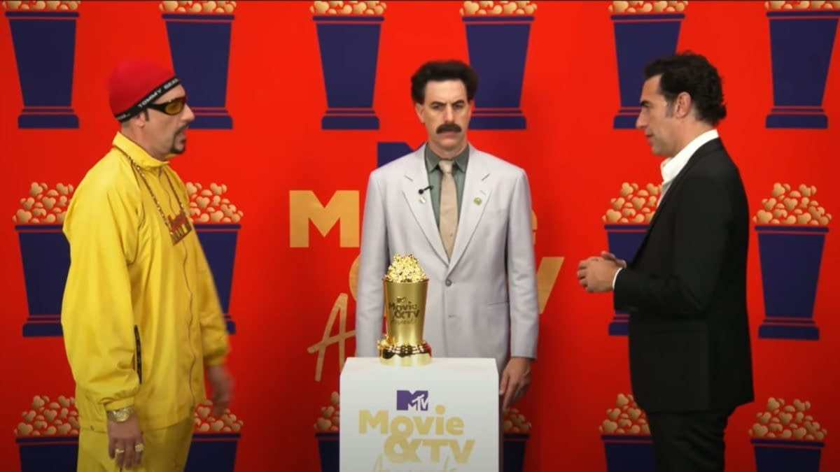 MTV Movie & TV Awards: Sacha Baron Cohen Characters Crash Speech