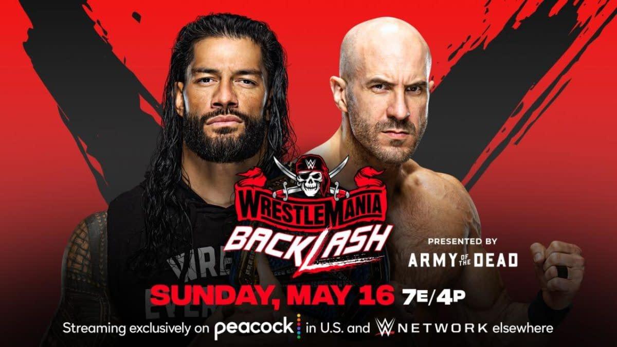 WWE WrestleMania Backlash Match Graphic: Roman Reigns vs. Cesaro for the Universal Championship