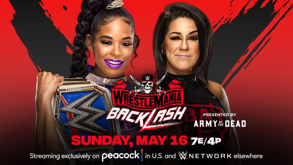WWE WrestleMania Backlash match graphic: Bianca Belair vs. Bayley for the Smackdown Women's Championship