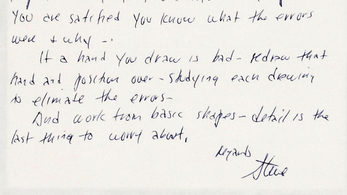 Steve Ditko's letter to Ken Landgraf, 1973.